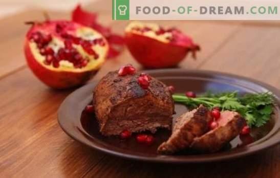 Marynata granatowa - bogaty smak! Przepisy marynaty z soku z granatów dla różnych mięs, drobiu, ryb