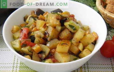 Dārzeņu sautējums ar cukini un kartupeļiem ir iecienītākā vasaras ēdienkarte. Dārzeņu sautējums ar cukini un kartupeļiem: minimālā piepūle