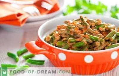 Jak gotować fasolkę szparagową smacznie i szybko: sałatka, przystawka z warzywami, jajkami, grzybami. Gotowanie fasolki szparagowej smaczne - przepisy kulinarne