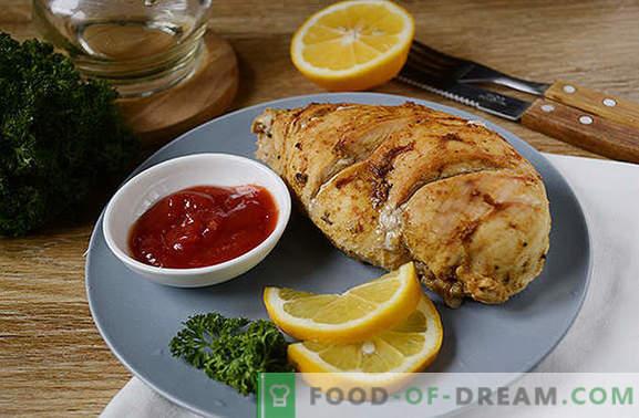 Hühnerfilet in Folie in einem langsamen Kocher: eiweißiges und kalorienarmes Gericht. Abwechslungsreiche Ernährung - backe die Brust in Folie in einem langsamen Kocher!