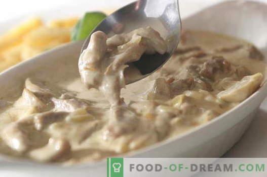 Mięso w śmietanie - najlepsze przepisy. Jak prawidłowo i smacznie gotować mięso w śmietanie.