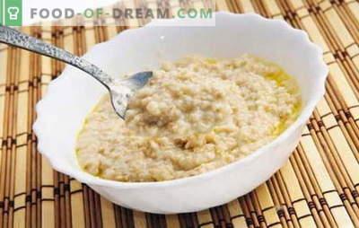Hoe havervlokken koken om het smakelijk te maken? Bak pap op water, met melk, rozijnen, pompoen, appels