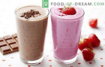Receta de batido de leche en casa: con fresas, frutas, chocolate, nueces. Los mejores batidos están aquí!
