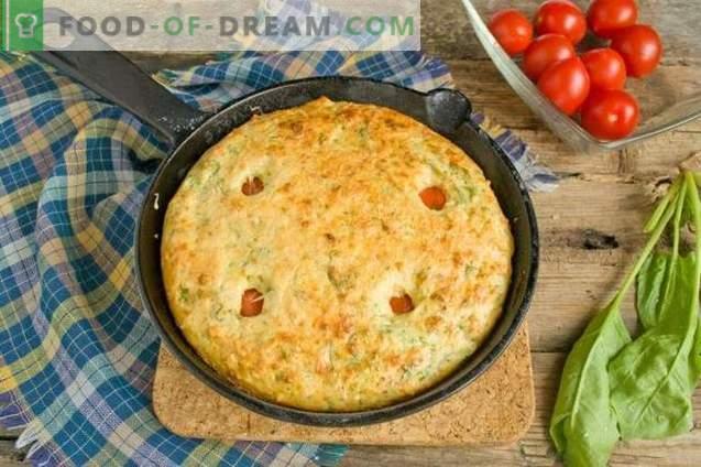 Omlet z twarogiem i szpinakiem