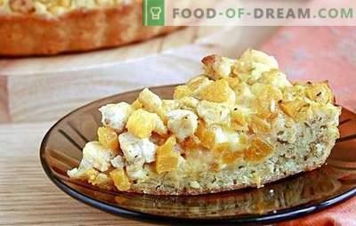 Dyniowe ciasta i jabłka to magiczne domowe ciasta. Widzenie jesiennych ciast z dyniami i jabłkami
