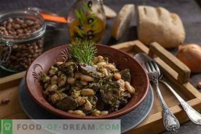 Nerki wołowe z fasolą - prosta ciepła sałatka