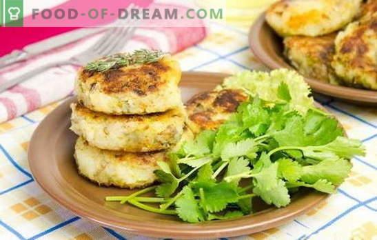 Kotleciki ziemniaczane z nadzieniem - niezwykłe danie ze zwykłych produktów. Przepisy na placki ziemniaczane z serem, jajkami, grzybami, mięsem