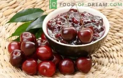 Prosty dżem wiśniowy w wolnej kuchence. Przepisy z konfiturą wiśniową w powolnej kuchence, z brandy, orzechami i galaretką