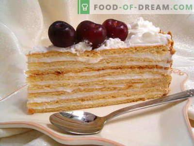 Ciasto ze śmietaną - najlepsze przepisy. Jak właściwie i smacznie gotować kwaśną śmietanę.