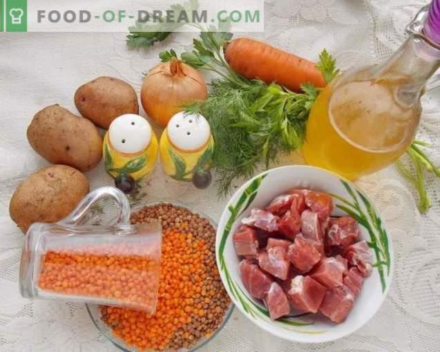 Zupa z soczewicy na rosole wołowym