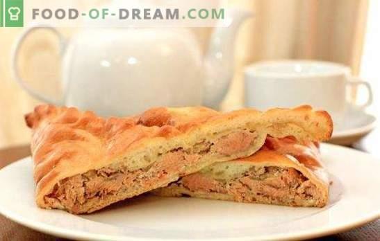 Chrupiące ciasto - odżywcze, pachnące, bardzo smaczne. Przepisy na domowe ciasto z różowym łososiem: drożdże, łuszczące się, galaretowate