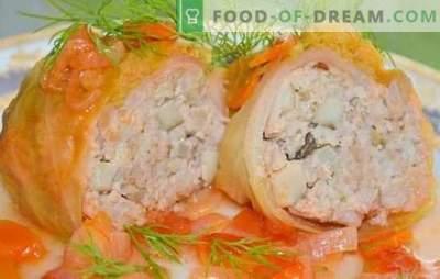 Przepisy krok po kroku na klasyczne i leniwe bułki z mielonym mięsem. Nadziewane gołąbki z mielonym mięsem na patelni, piekarniku, wolnej kuchence (krok po kroku)