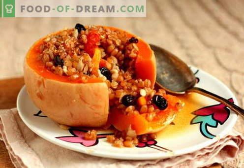 Пълнена тиква - най-добрите рецепти. Как да правилно и вкусно готви пълнени тиква.