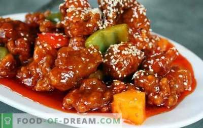 Korean Pork - proven recipes for those who like spicy food. Any side dish is good with Korean pork