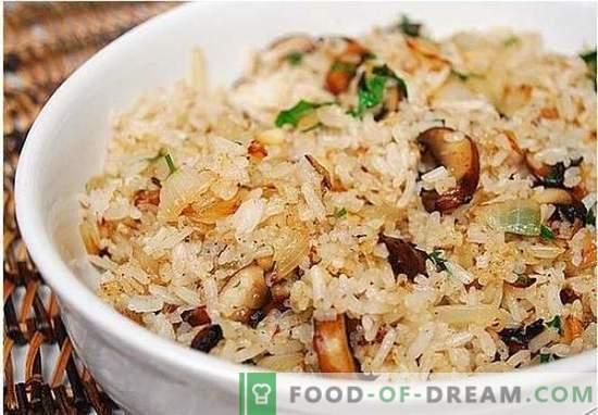 Wegetariański pilaw z grzybami - przepis na chudego warzywa pilau