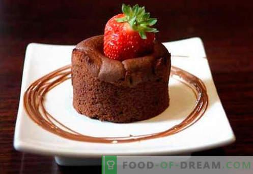 Czekoladowy suflet - najlepsze przepisy. Jak szybko i smacznie ugotować suflet czekoladowy.