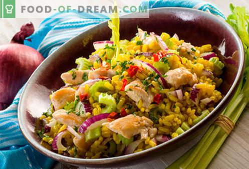 Sałatka ryżowa - pięć najlepszych przepisów. Jak prawidłowo i smacznie gotować sałatkę ryżową.