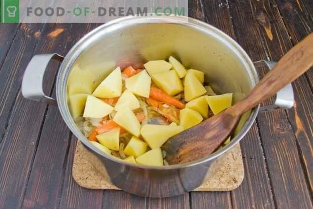 Zupa grzybowa z fasolą i ziemniakami