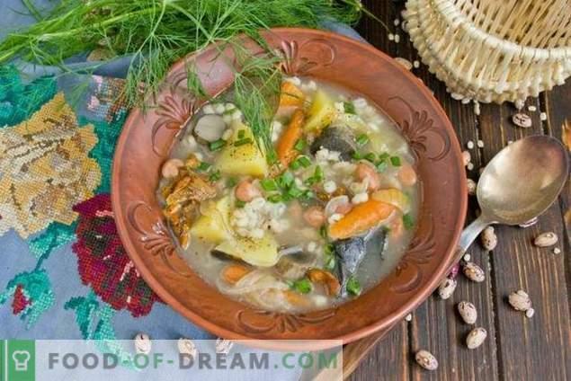 Zupa Grzybowa Z Fasola I Ziemniakami