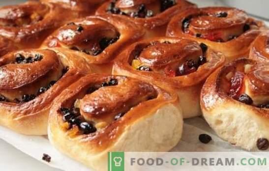 Słodkie domowe bułeczki - obfite ciastka! Przepisy na domowe słodkie bułeczki z cukrem, makiem, rodzynkami, sezamem, skórką