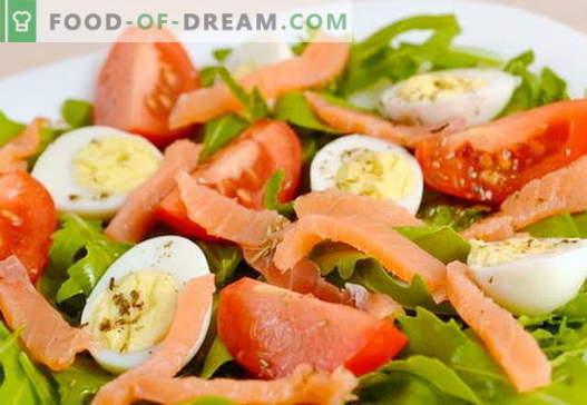 Sałatka z przepisami na łososia i jajka na święta i na każdy dzień