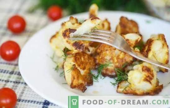 Kalafior z jajkiem na patelni - musisz spróbować! Przepisy i gotowanie kalafiora z jajkiem na patelni