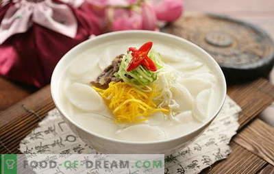 Sopa coreana - perfumada, quente e poderosa! Receitas de sopas coreanas: com daikon, frutos do mar, macarrão, repolho, tofu