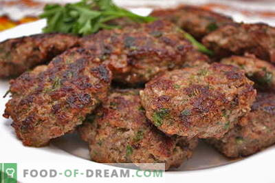 Le cotolette di carne tritata sono le migliori ricette. Come cucinare correttamente e gustose polpette di carne macinata.