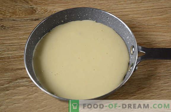 Naleśniki na mleku: sucha amerykańska wersja zwykłych cieście! Autorski przepis na fotografię naleśników na mleko krok po kroku - prosty pyszny
