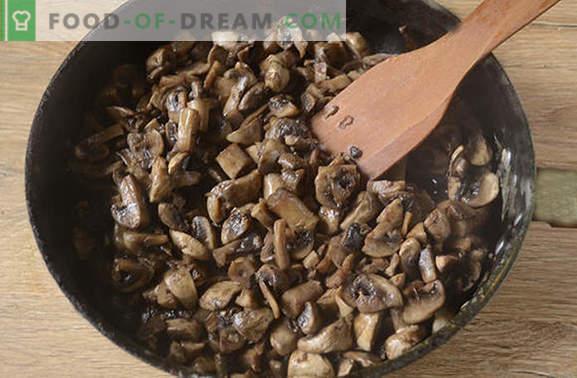 Smażone grzyby z cebulą: odpowiednia technologia gotowania. Foto-przepis krok po kroku do pieczenia pieczarek z cebulą