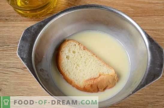 Grzanki z mlekiem w jajku: przekąska w pięć minut! Jak gotować grzanki z mlekiem w jajku: przepis na zdjęcia krok po kroku