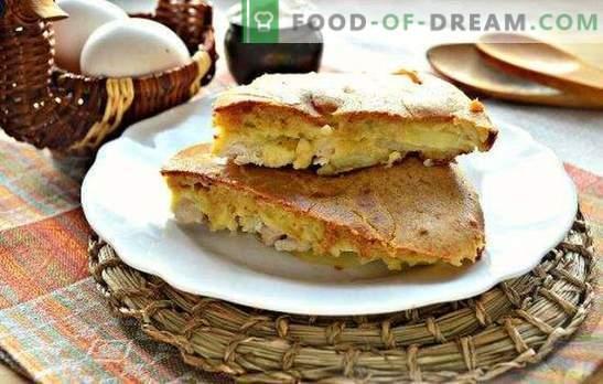 Ciasto z kurczakiem - soczyste, pachnące i delikatne ciasta. Najlepsze przepisy na galaretowate ciasto z kurczakiem