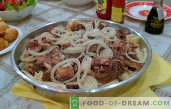 Domowy beshbarmak - danie ludów tureckich. Beshbarmak w domu z jagnięciną, kuropatwą, indykiem, wieprzowiną