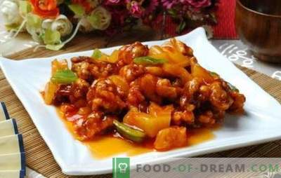Vlees in zoetzure saus in het Chinees is een legende! Vleesrecepten in Chinese zoetzure saus met ananas, groenten, teriyaki