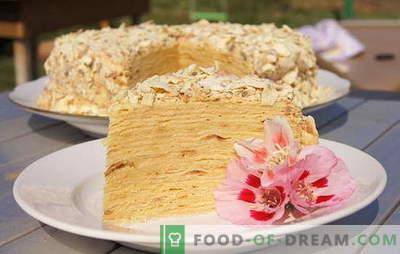 """Ciasto """"Napoleon"""" w domu - od słodkiego dzieciństwa! Przepisy na ciasto Napoleona: z orzechami, czekoladą, karmelem"""