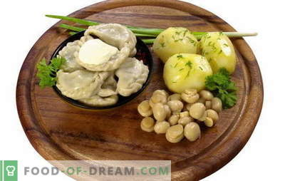 Dumplings with potatoes and mushrooms - and no meat! A selection of the most tempting recipes of dumplings with potatoes and mushrooms