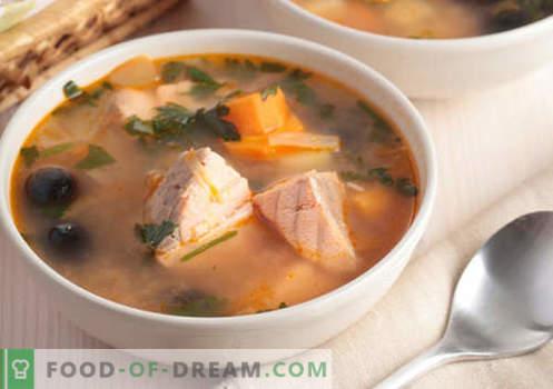 Zupy z różowego łososia - sprawdzone przepisy. Jak prawidłowo i smacznie gotować zupę z różowego łososia.