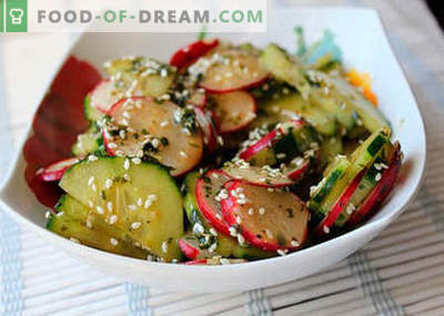 Japońskie sałatki - najlepsze przepisy. Jak właściwie i smacznie gotować japońską sałatkę.