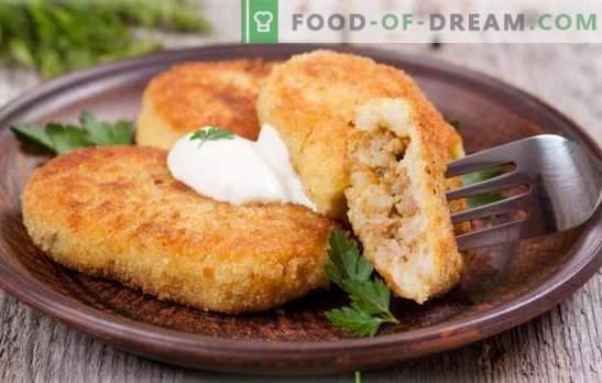 Zrazy ziemniak z mięsem - arcydzieło babci! Gotowanie pysznego ziemniaka zrazy z mięsem na patelni, w piekarniku, na parze