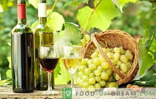 Wino z winogron w domu - przydatne! Tajemnice wytwarzania wina z winogron w domu