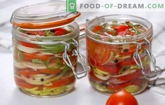 Pyszne sałatki pomidorowe na zimę: witaminy w słoikach dla całej rodziny. Najlepsze przepisy na pyszne sałatki na zimę pomidorów
