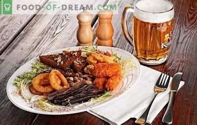 Przekąski do piwa: oryginalne przepisy do domowej kuchni. Przepisy na smaczne i pikantne przekąski piwne