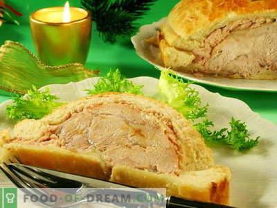 Mięso pieczone w cieście - najlepsze przepisy. Jak prawidłowo i smacznie gotować mięso pieczone w cieście.