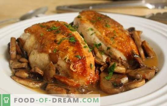 Pierś z kurczaka pieczona w piekarniku z miodem, kwaśną śmietaną, sosem czosnkowym. Ciekawe przepisy na soczystą pierś z kurczaka, pieczone w piekarniku