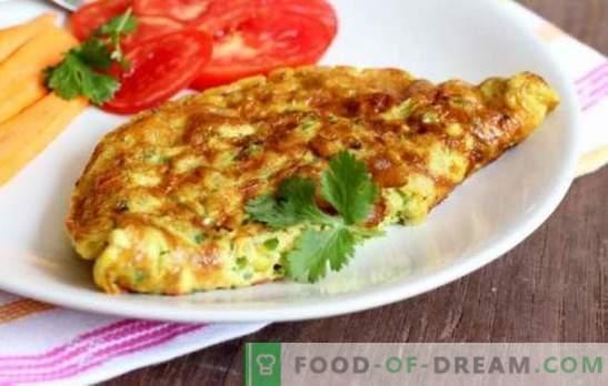 Gotowanie omletu w multicooker: przewiewny, rumiany z kiełbasą, serem, zielenią. Jak ugotować omlet w wolnej kuchence - uczyć!