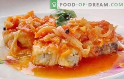 Głównym daniem jest dorsz pod marynatą. Przepisy na miękkiego i soczystego dorsza pod marynatą w piekarniku i wolnej kuchence