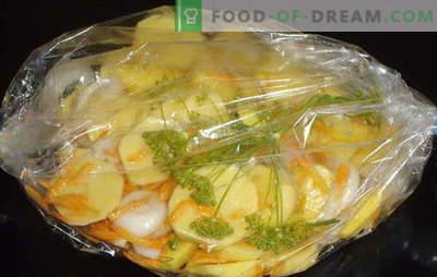 Aardappelen gebakken in een ovenhuls zijn geweldig! Aardappelen in een braadzak in de oven: klassieke en nieuwe recepten
