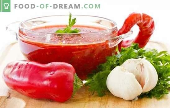 Pepper Adjika: grzebie w kuchni! Porady, przepisy kulinarne i sztuczki kulinarne o smaku adzhika z pieprzu
