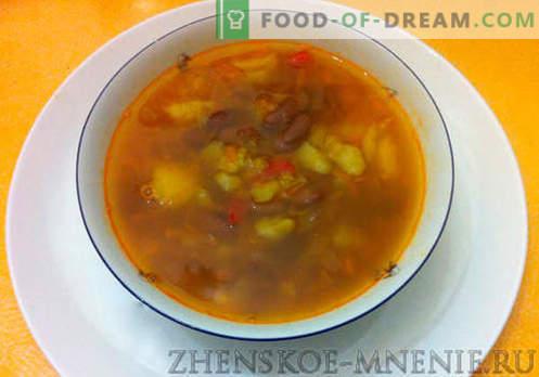 Zupa z fasolą rustykalną - przepis ze zdjęciami i opisem krok po kroku