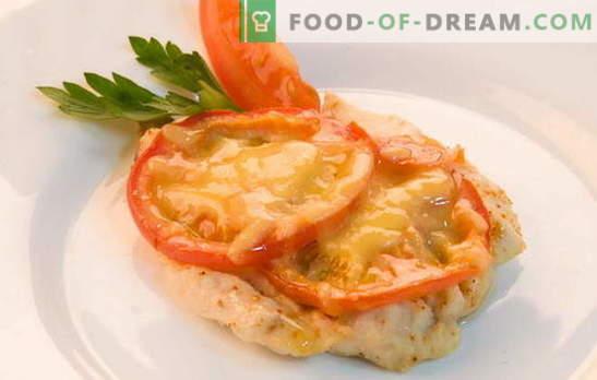 Przepisy na filety z kurczaka z pomidorami i serem w piekarniku. Gotowanie fileta z kurczaka z pomidorami i serem w piekarniku - szybkie, łatwe!